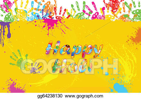 jpg Print clipart holi. Eps illustration happy vector