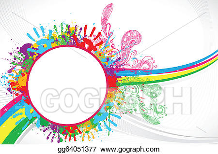 image library library Eps illustration background vector. Print clipart holi