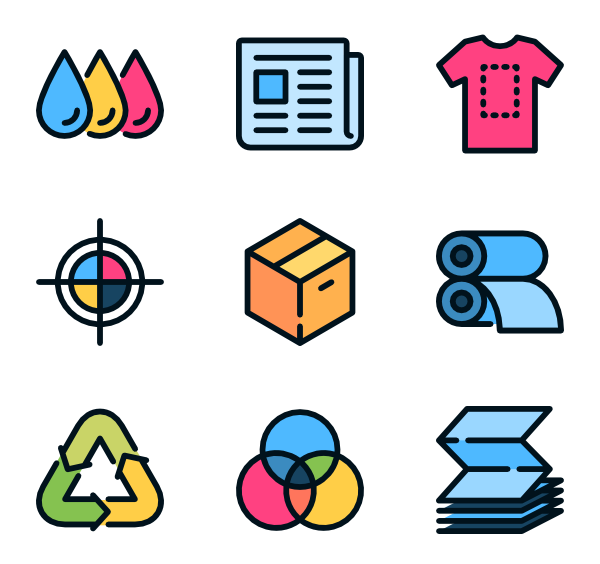 clipart stock offset printing icons