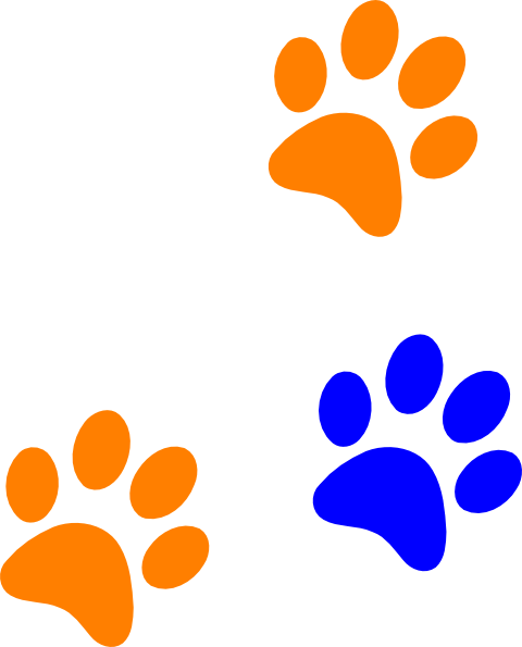 vector free stock Blue rng print clip. Vector paw background