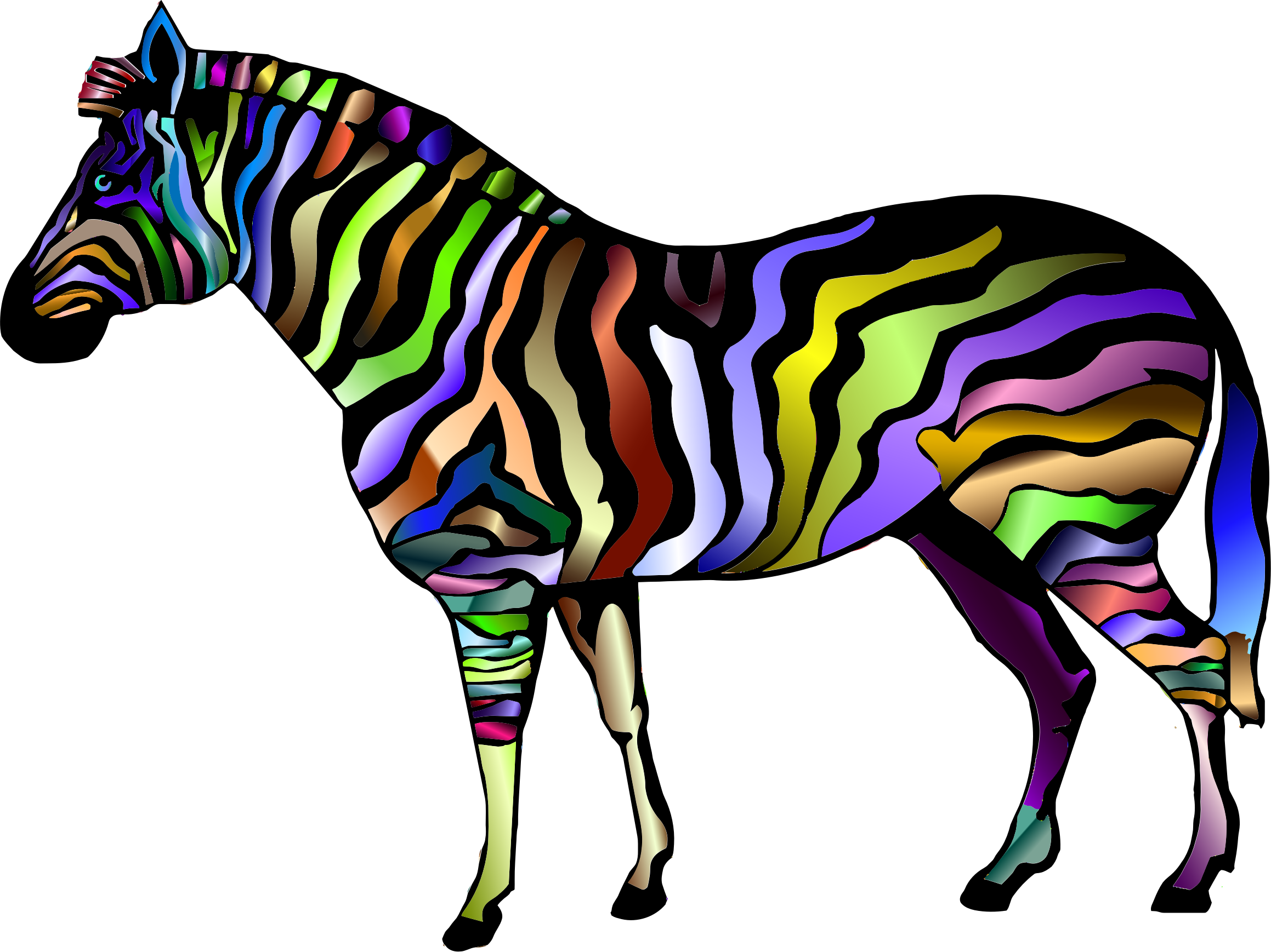 picture download Animal print clipart. Prismatic zebra icons png