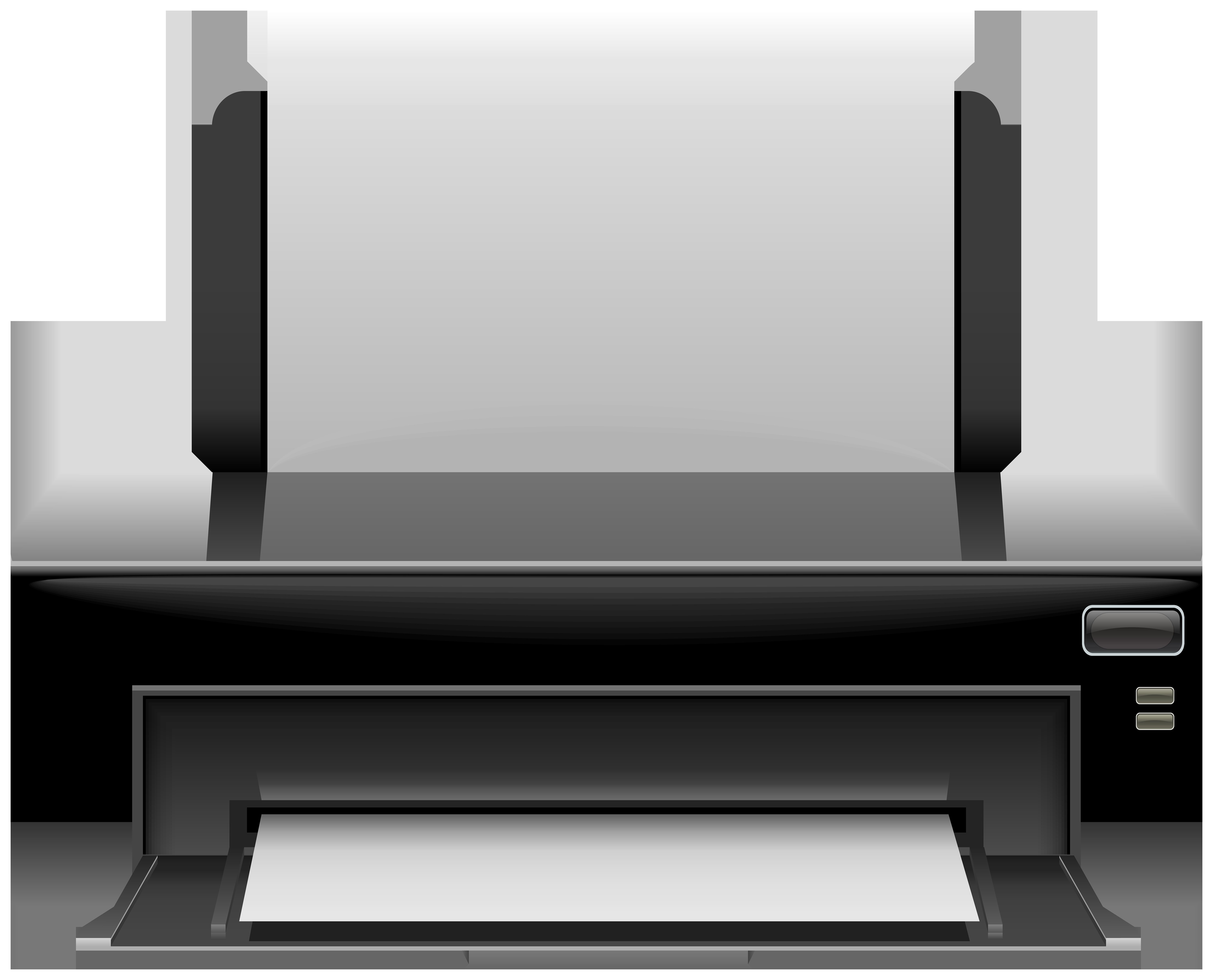 svg stock Black png clip art. Printer clipart.