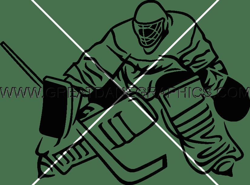 vector freeuse stock Hockey Goalie Blocku