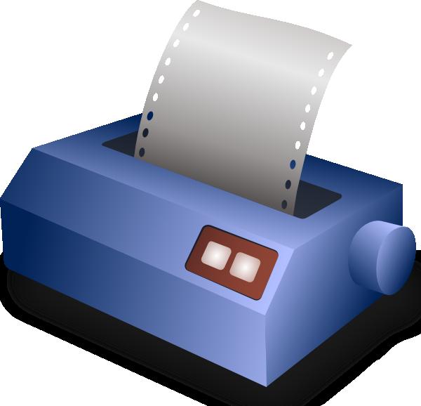 svg freeuse download Matrix Printer Clip Art at Clker