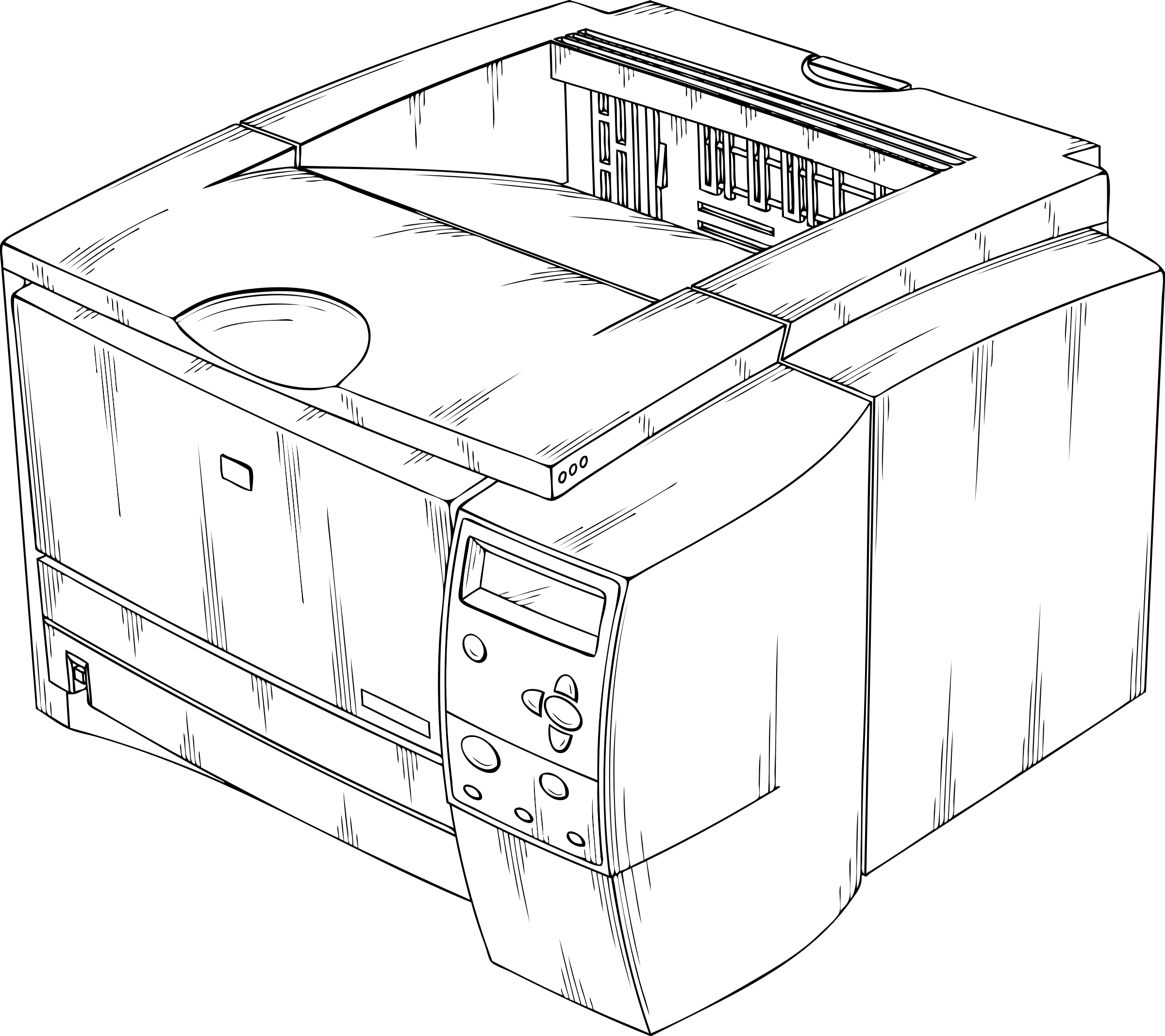 clip art freeuse library Printer Drawing at GetDrawings