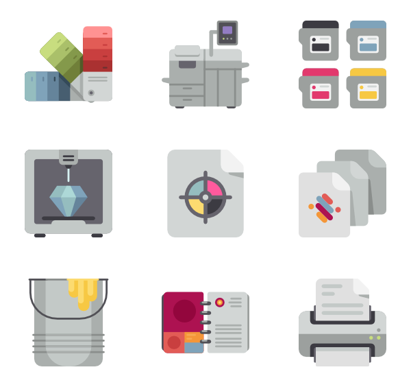 graphic library stock Printer Icons