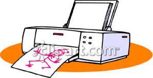 clipart library Printing drawing. Printer a royalty free.
