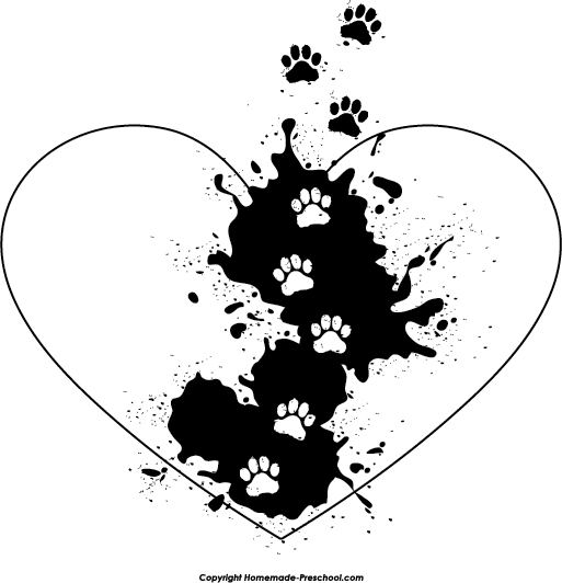 graphic black and white stock Free paw click to. Prints clipart.