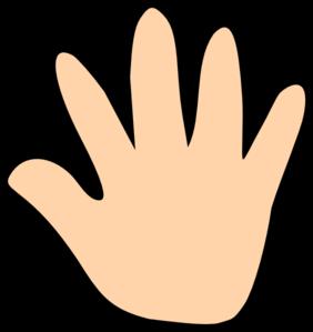 banner free download Skin Color Hand Print Clip Art at Clker