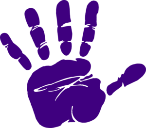 image freeuse download Purple Hand Print clip art