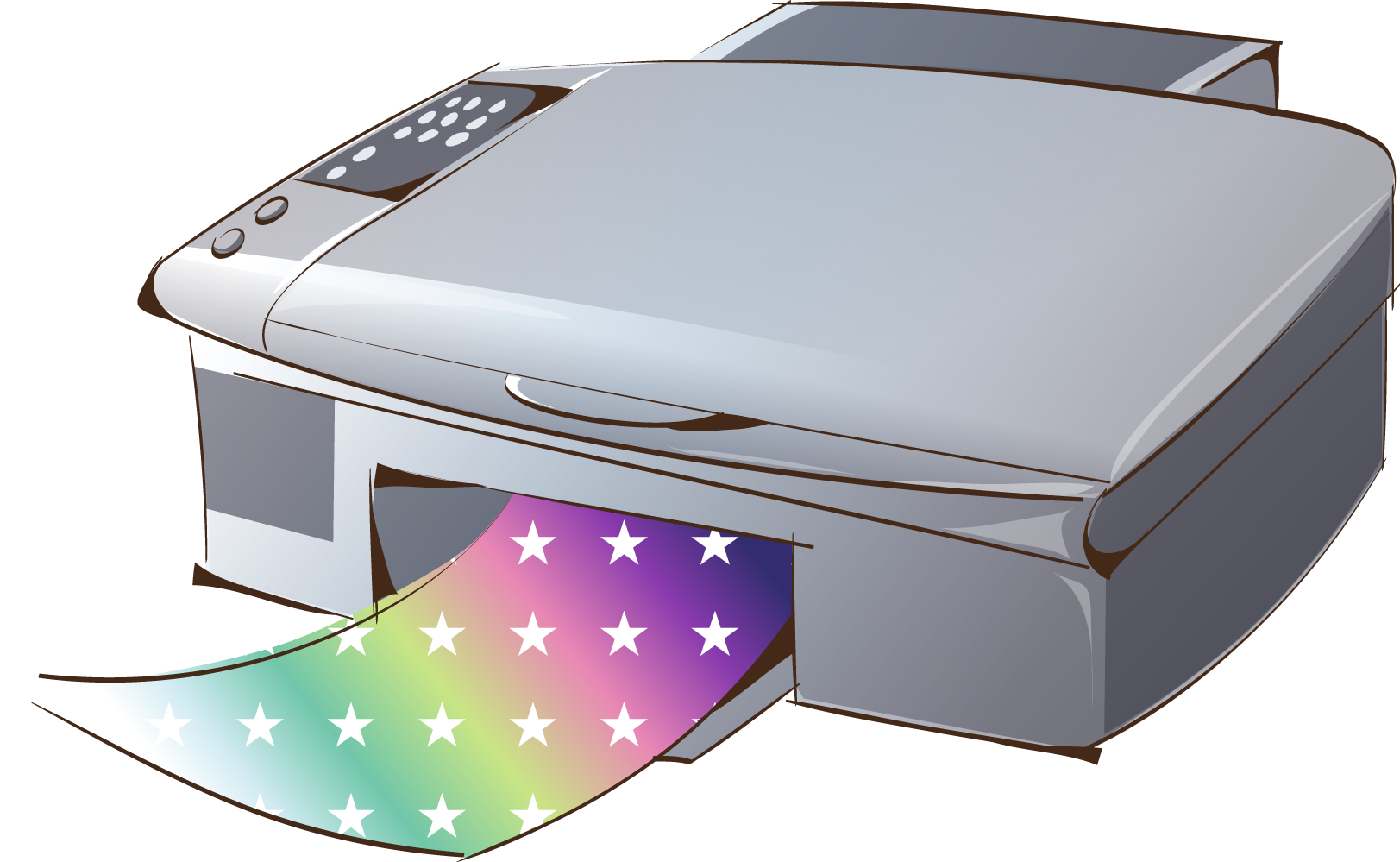 picture royalty free stock Printer icon cartoon digital. Prints clipart output device