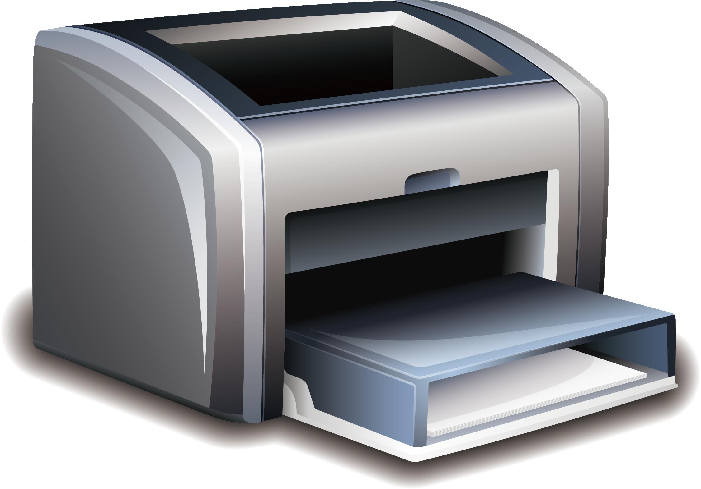 vector transparent stock Paper printer laser printing. Prints clipart output device