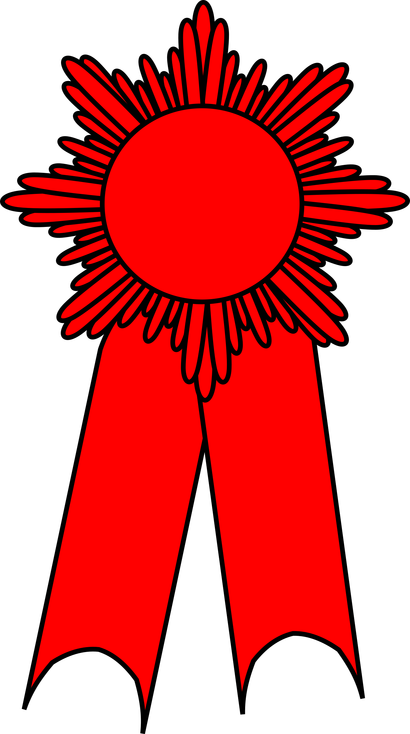 vector library download Prize clipart. Ribbon red big image.