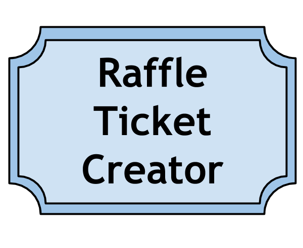 png black and white stock drawing raffle ticket templates