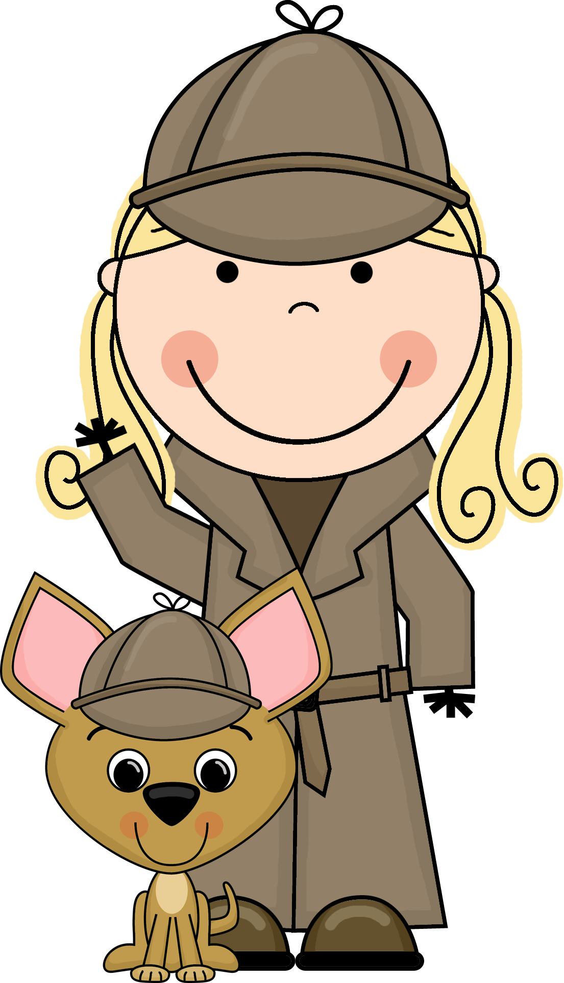 vector royalty free stock Problem clipart. Detective woman free collection