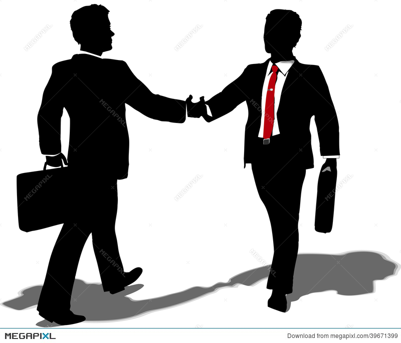 banner library Professional clipart business partner. People meet to make.