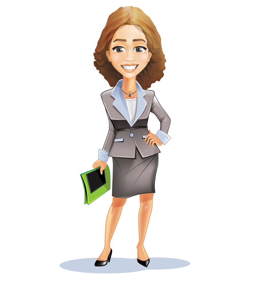 image freeuse download Cartoon Woman Business Suit