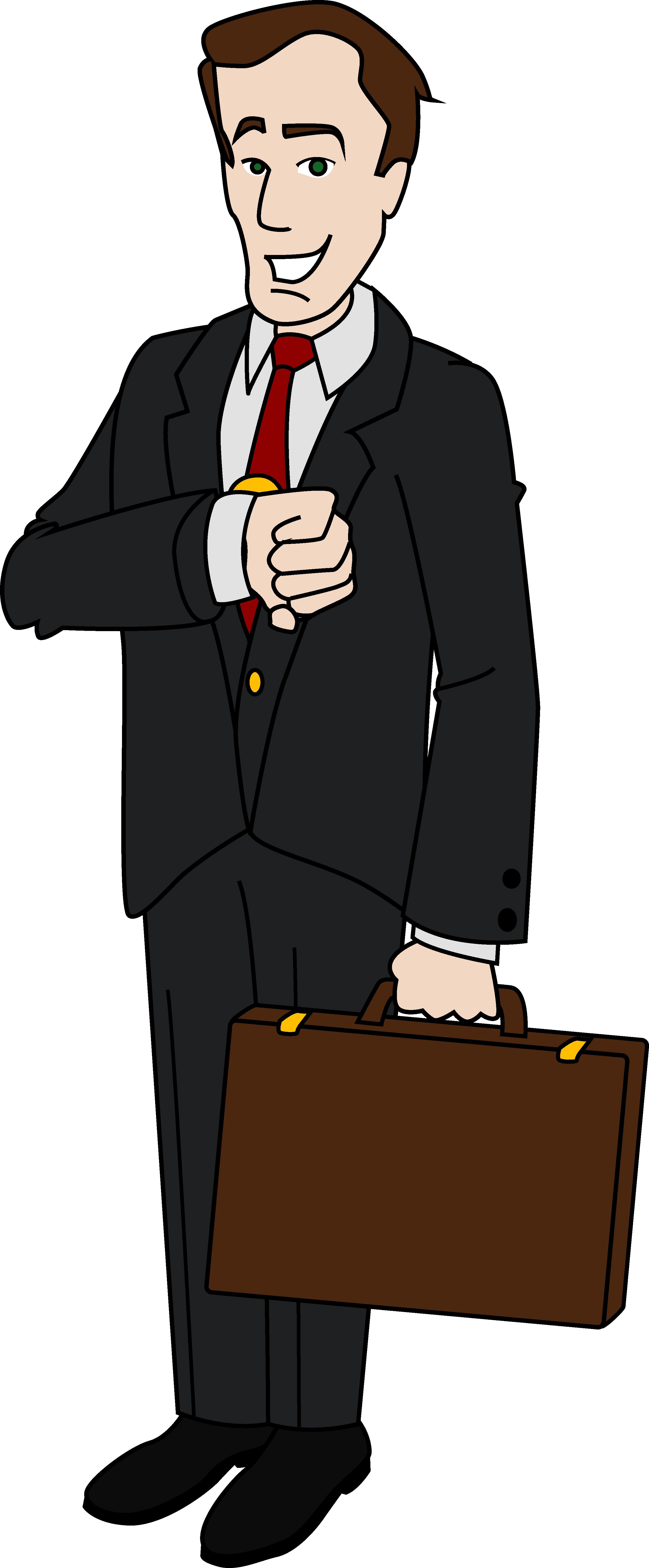 graphic transparent library Business Man Clip Art