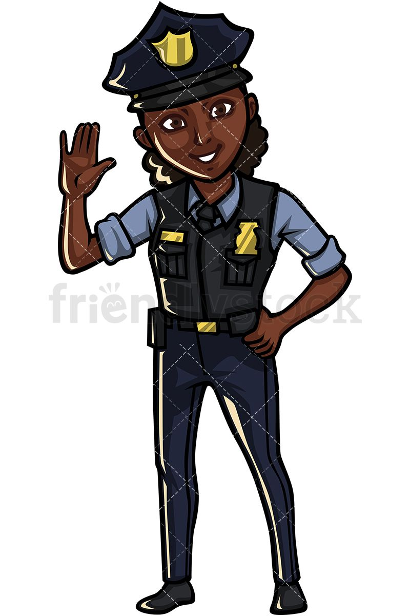 svg transparent stock Professional clipart officer. Black policewoman art in