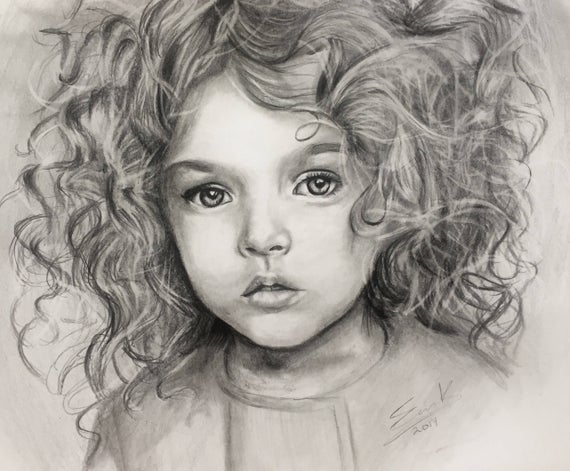 picture royalty free Custom pencil portrait original. Professional drawing.
