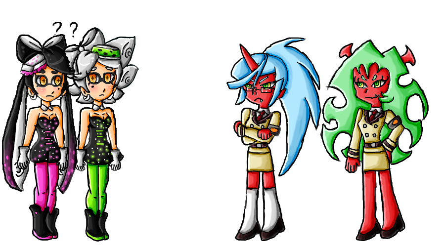 image download Squid Sisters and Daemon Sisters by ninpeachlover on DeviantArt
