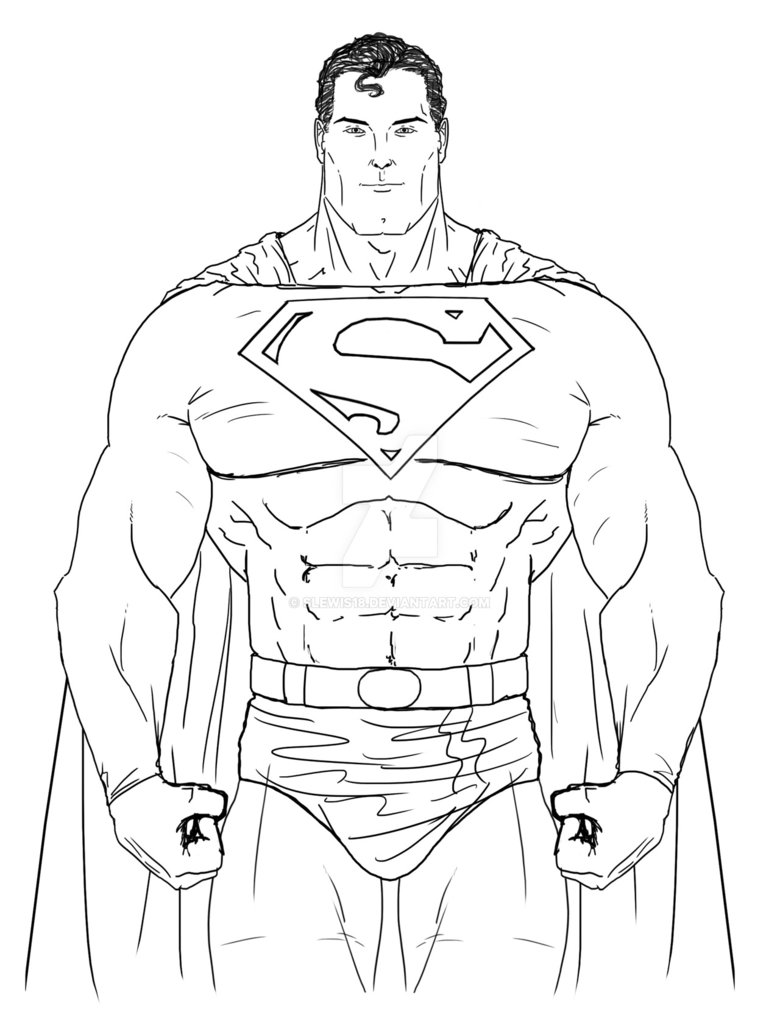 vector freeuse library Pencil colorful realistic art. Drawing superman sketch