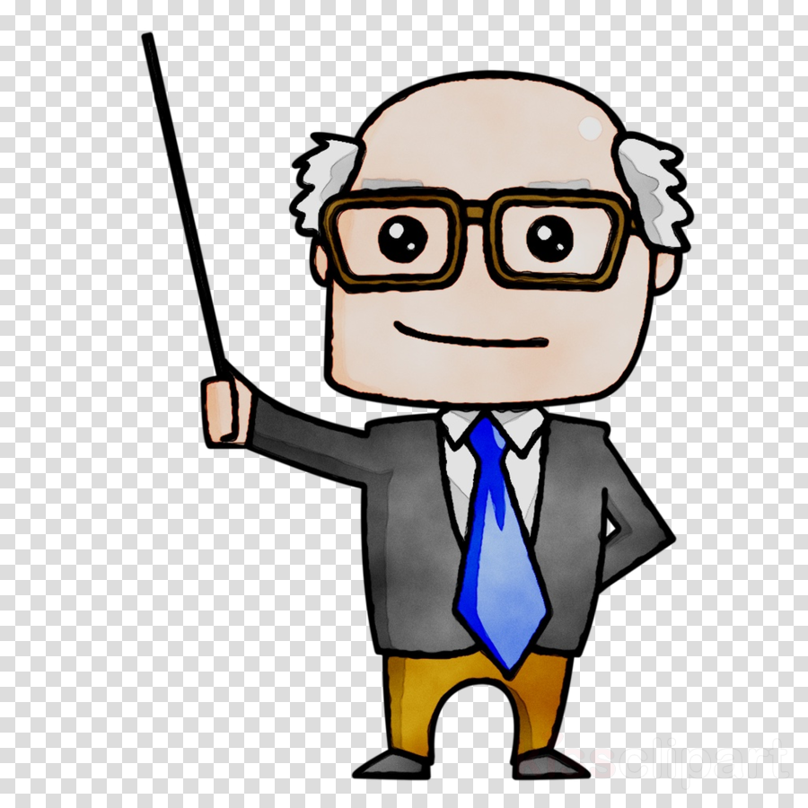 banner transparent Professor teaching clipart. Teacher cartoon education illustration