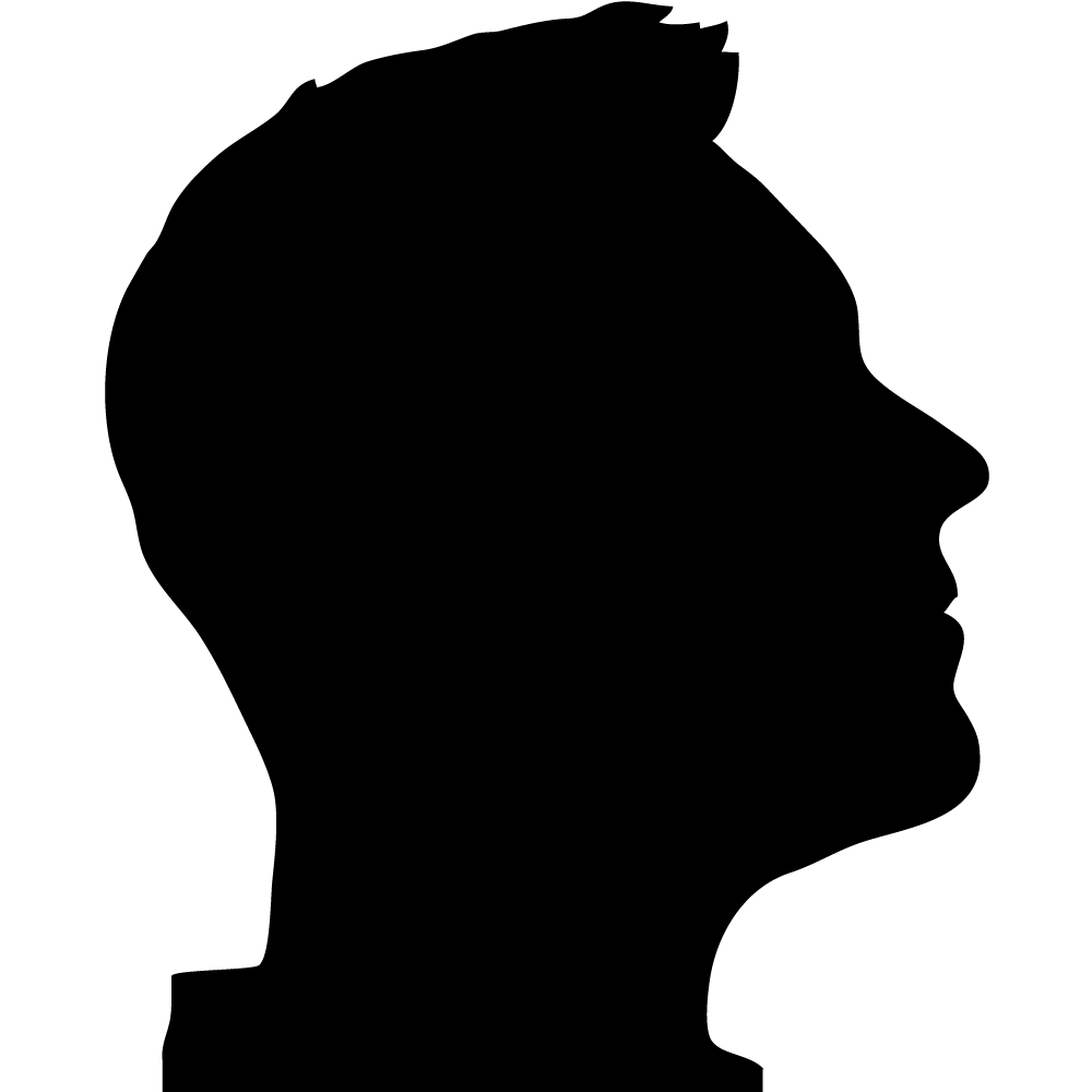 png black and white stock Silhouette Profile Picture at GetDrawings