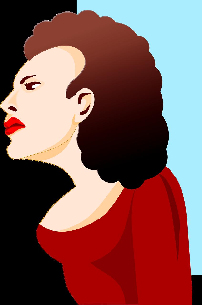 clip art freeuse stock Woman female design face. Profile vector