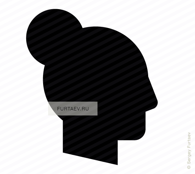 png black and white download Profile vector. Woman icon of female
