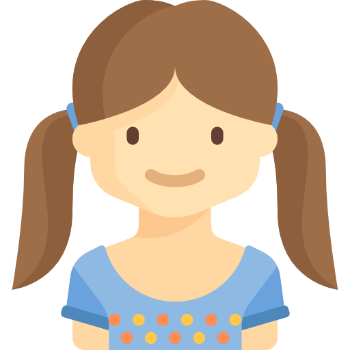 png download Young flat sienna icon. Vector avatar child