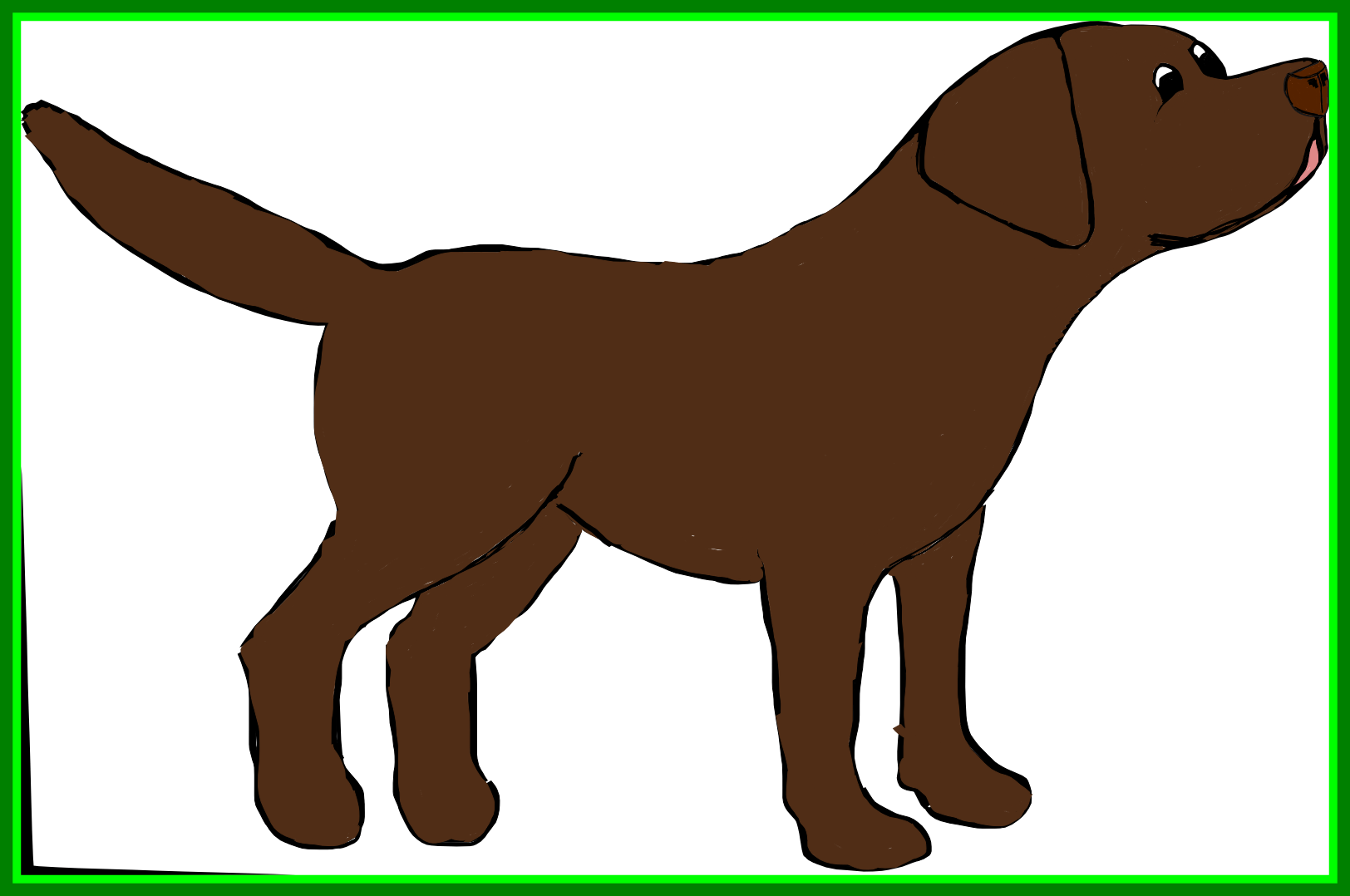 png Collection of free drawing. Profile vector labrador