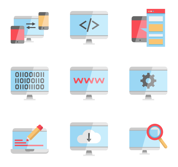 clip library Programming Icons