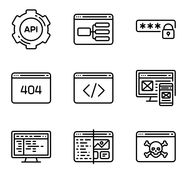 jpg freeuse stock Programming Icons