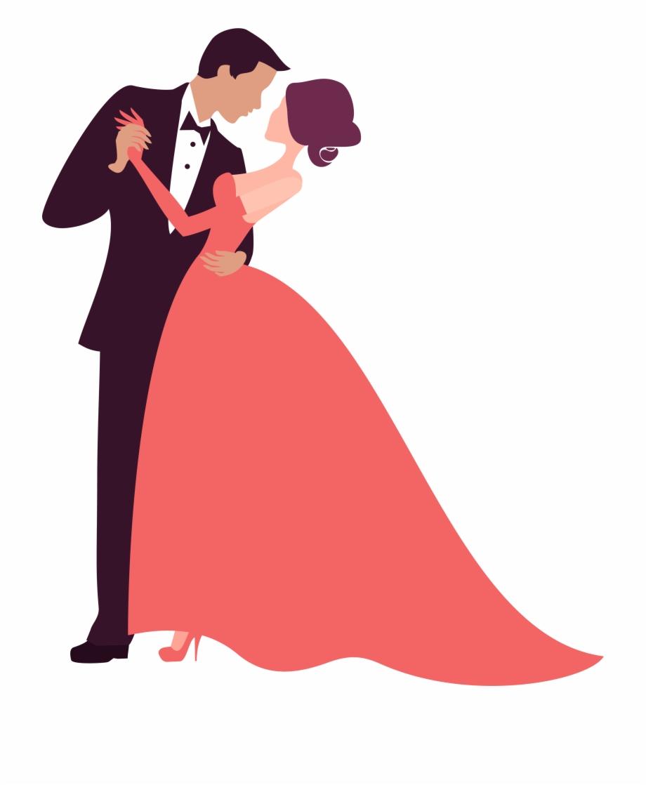 clip art Prom clipart. Bride groom dance wedding.