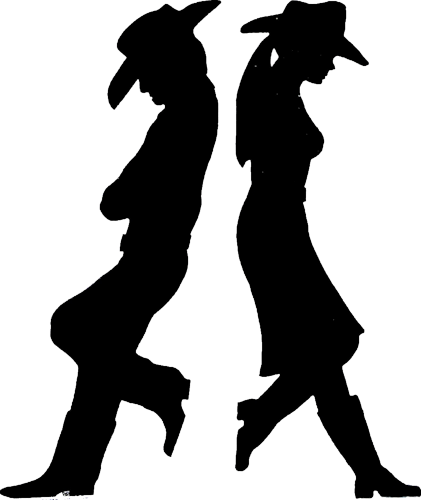 png freeuse stock Western dance clipart. Cowboy silhouette cameo ideas.