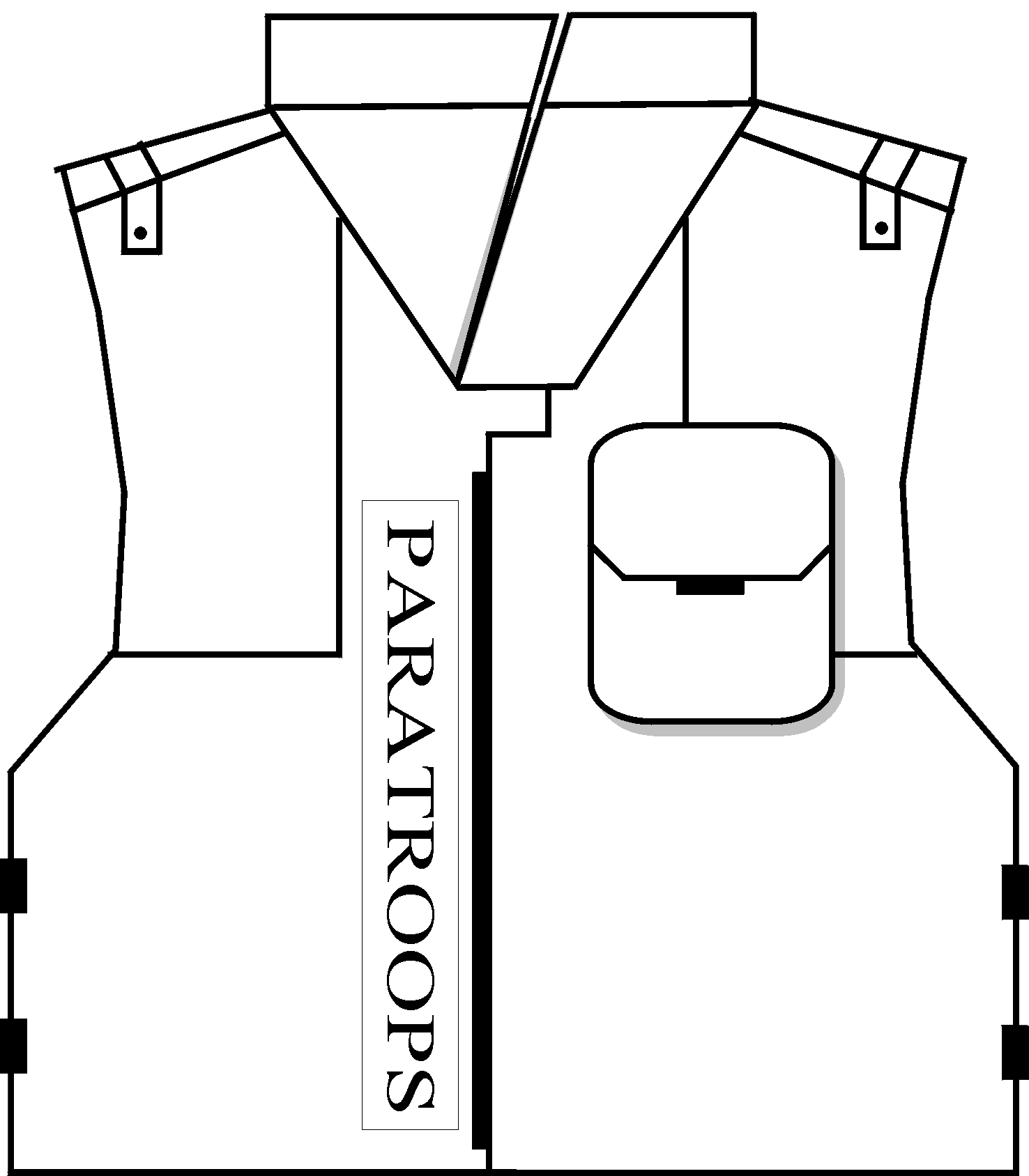 picture library stock Bullet vests technology drawings. Proof drawing.