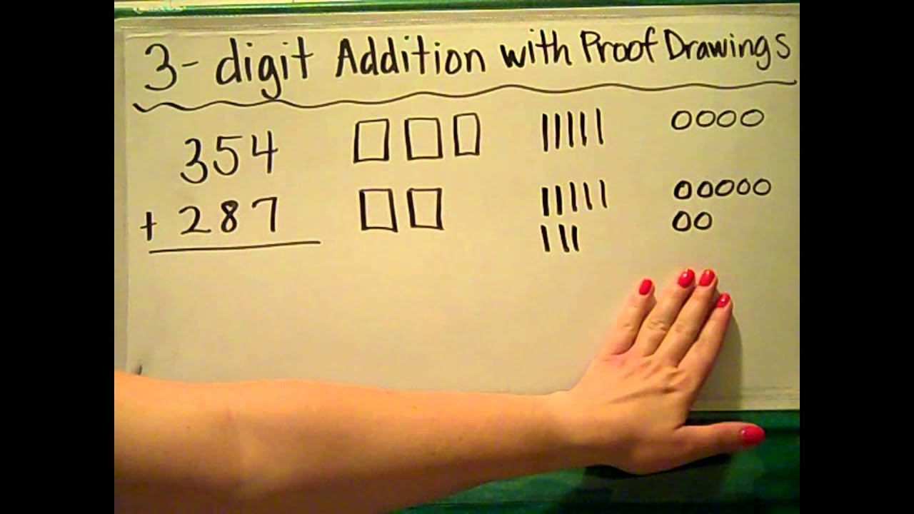 clipart freeuse stock Es math digit addition. Proof drawing.