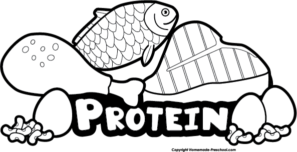 royalty free download Top Of Protein Clipart Black And White