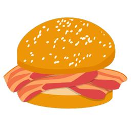banner stock Clip Art Bacon Roll
