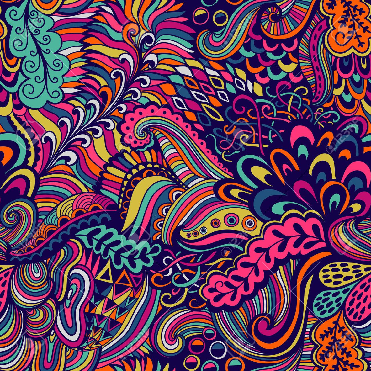 banner library download Psychedelic vector. Seamless texture with abstract.