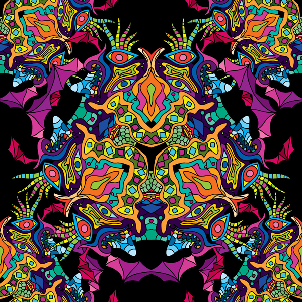 banner royalty free library Psychedelic vector. Seamless eps patterns pack.