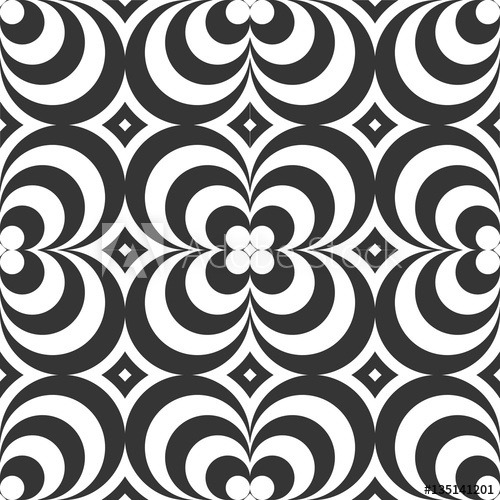 png library download Seamless monochrome background sixties. Psychedelic vector.