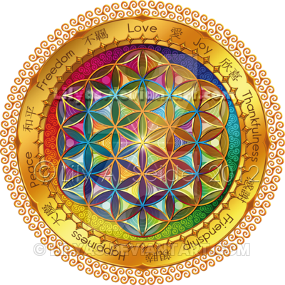 image royalty free download Flower of Life Postcard by Lilyas on DeviantArt