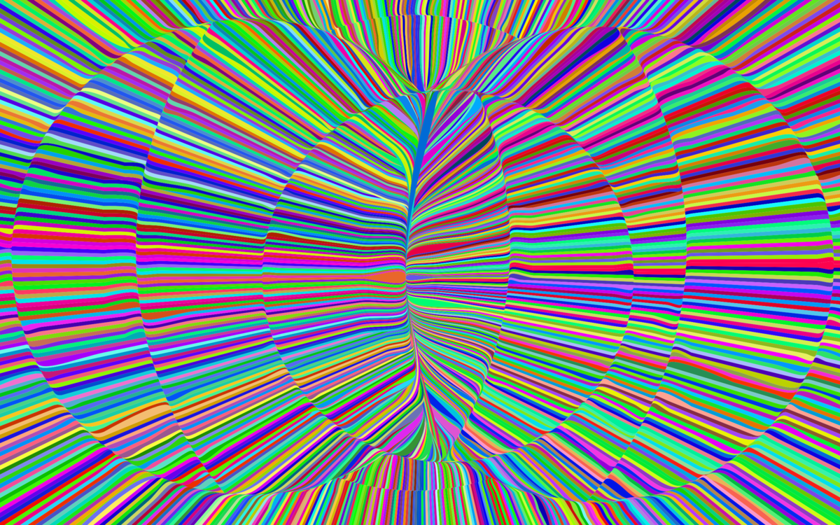 banner black and white library Psychedelia art rock computer. Psychedelic vector.