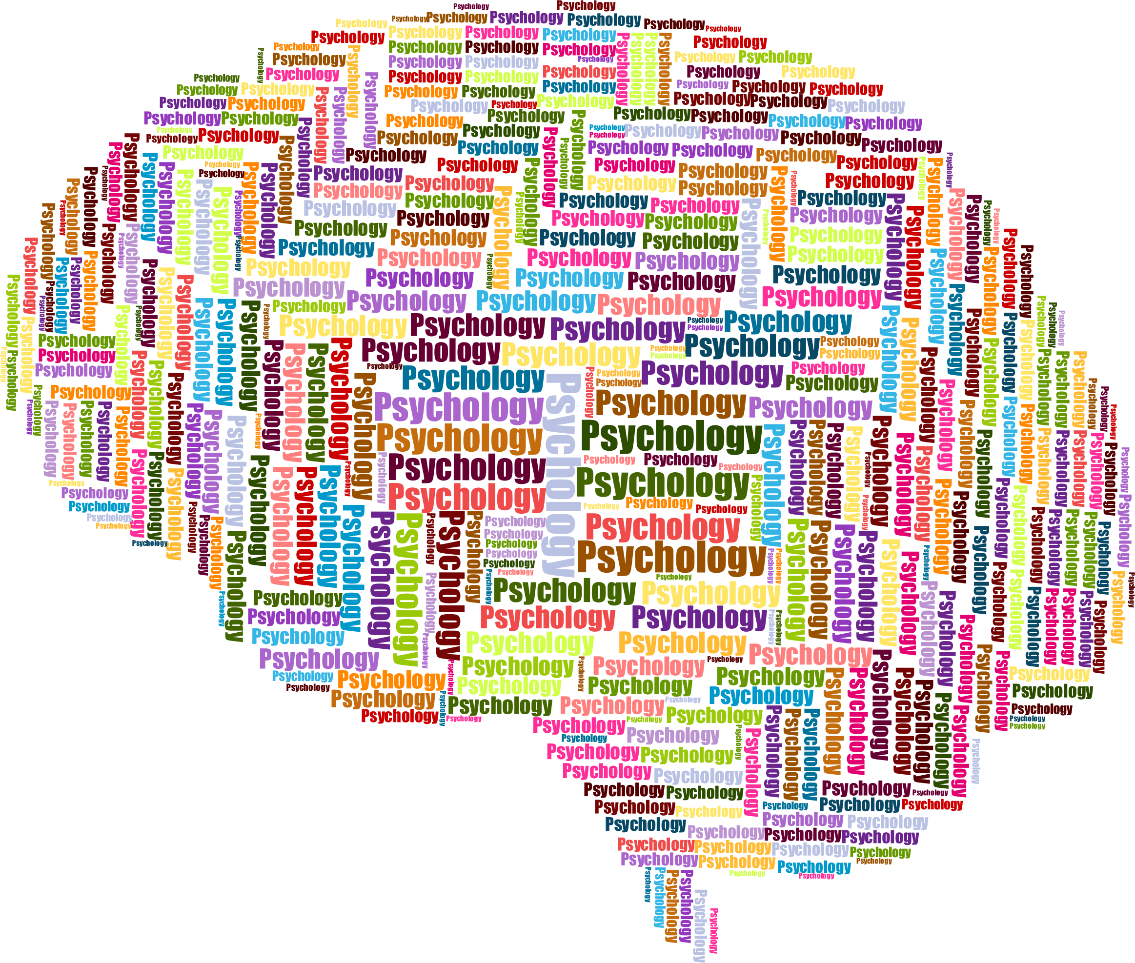 clip stock Brain clipart psychology. Wordcloud big image png