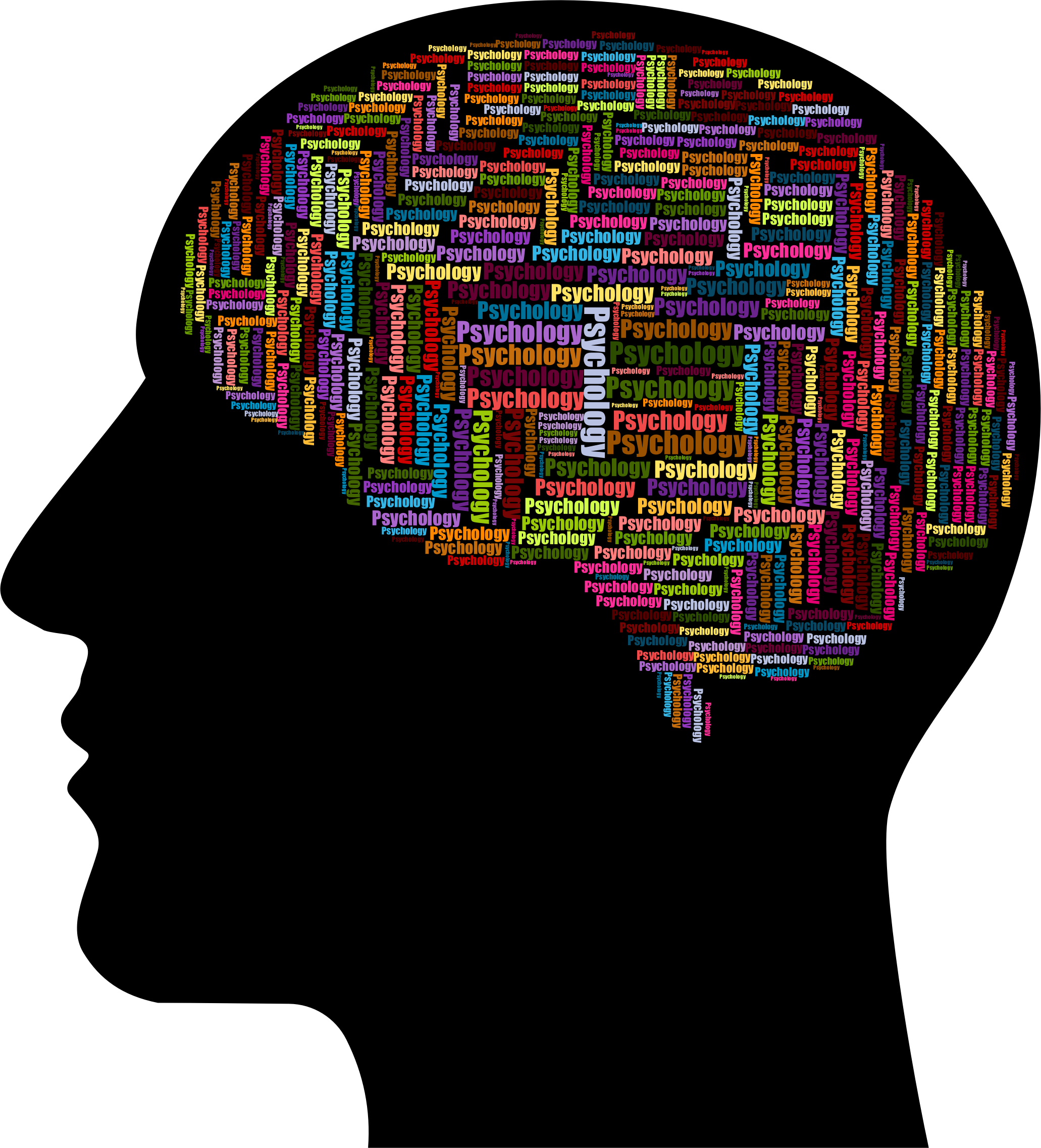 vector free stock Man psychology wordcloud big. Mental clipart brain head.