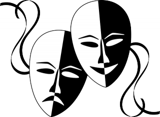 graphic black and white stock Psychological Aspects of Acting