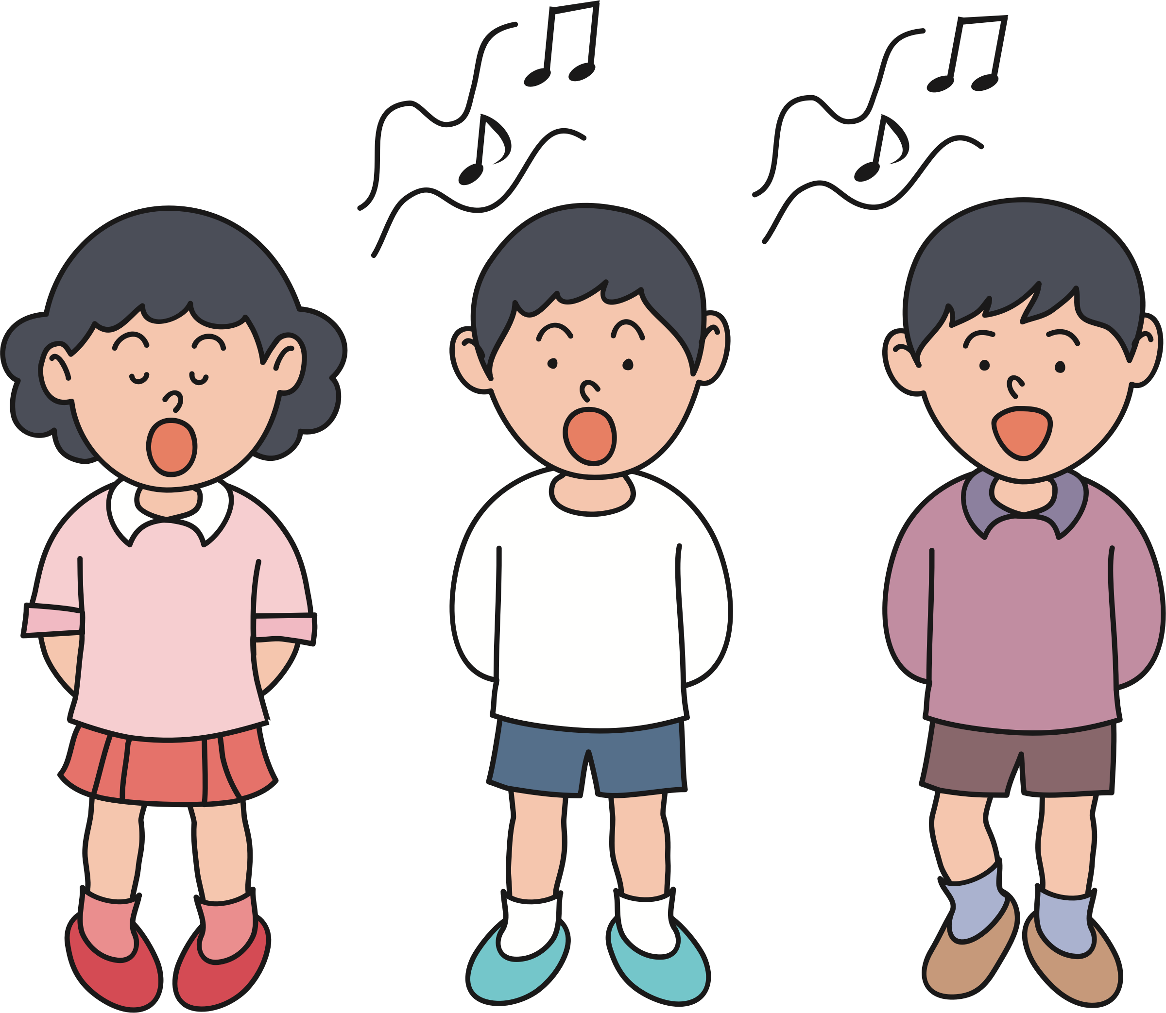 picture free Children big image png. Kids singing clipart