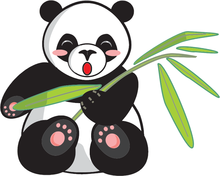 graphic royalty free stock Public domain clipart. Panda free to use.